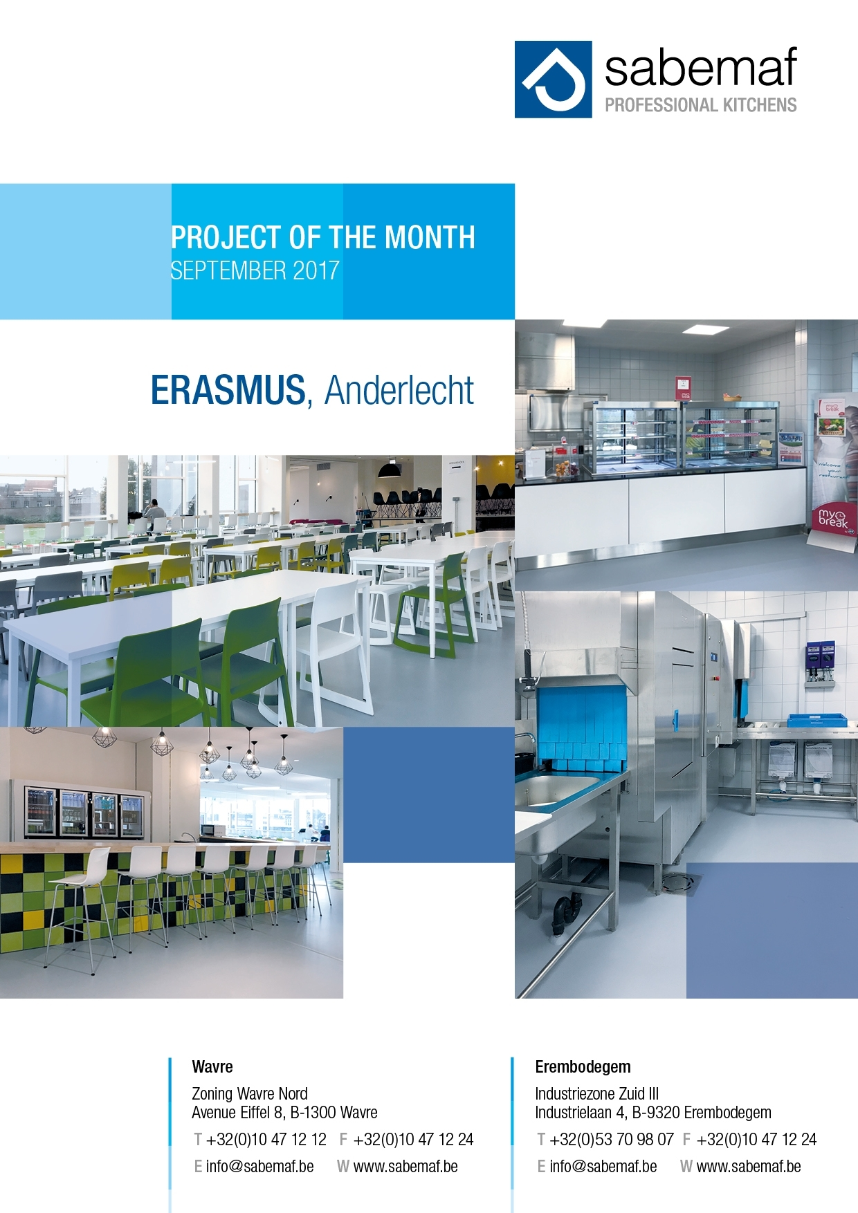 POM Project of the month September 2017 Erasmus Anderlecht